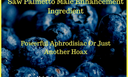 Saw Palmetto Male Enhancement Ingredient
